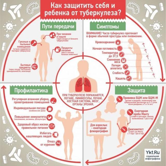 Туберкулез легких: симптомы, профилактика и способы лечения